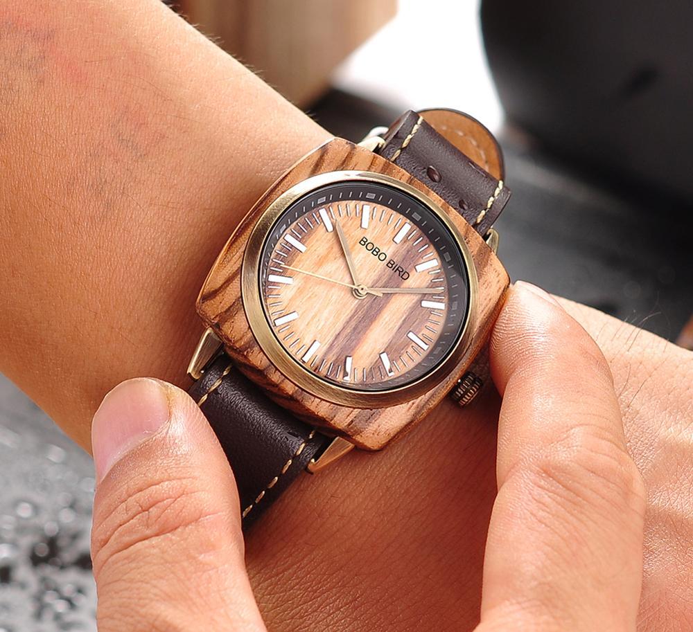 Image 5 - relogio masculino BOBO BIRD Watch Men Top Luxury Brand Wood Wrist Watches in Wooden Box erkek kol saati Christmas Gift for HimQuartz Watches   -