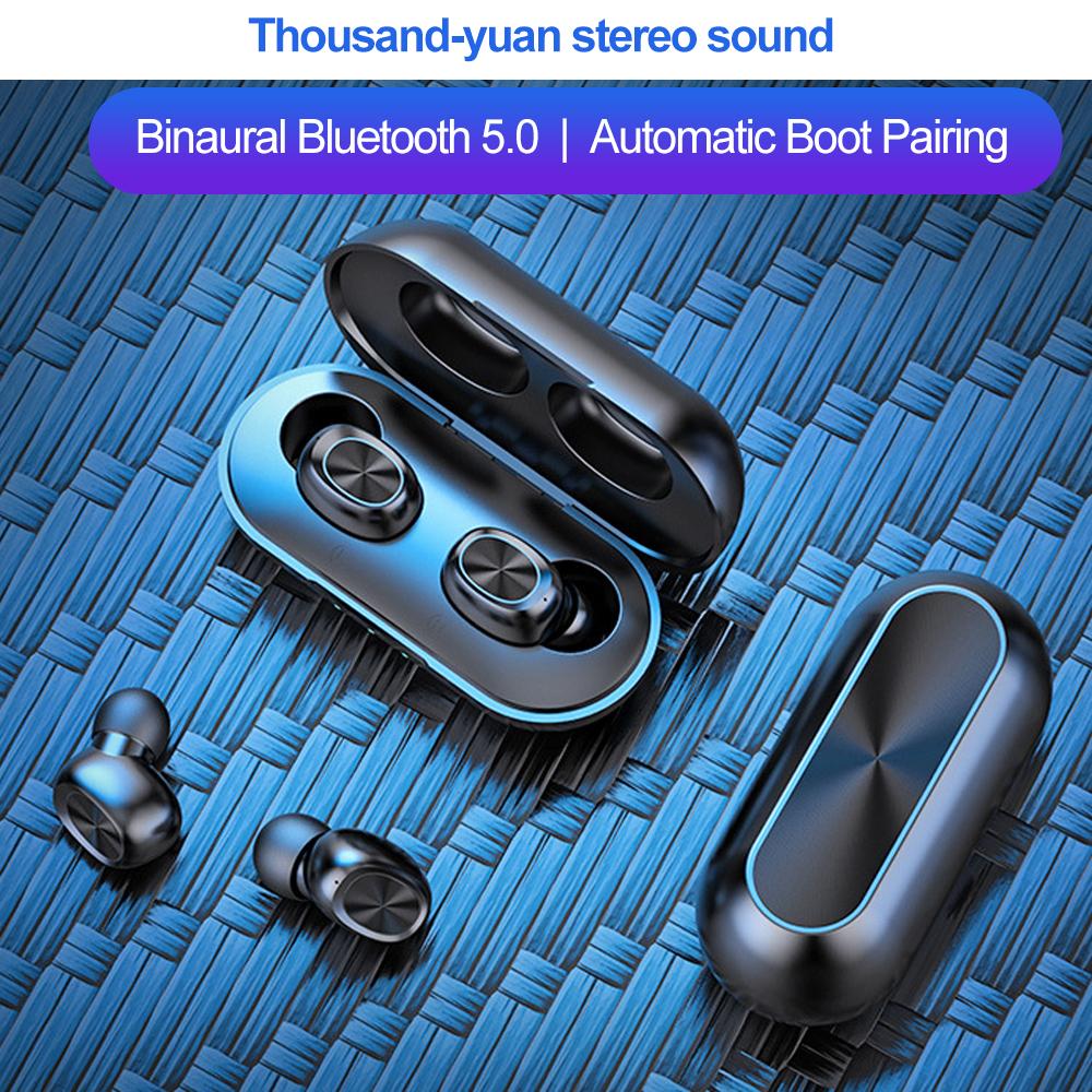 TWS Bluetooth wireless <font><b>Earphone</b></font> 5.0 with Microphone <font><b>8D</b></font> stereo Music Headset 300mAH Power Bank IP67 Waterproof Sport <font><b>earphones</b></font> image