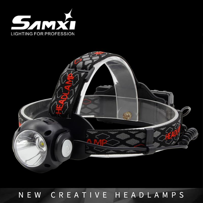 Rotating Bright Light Headlights White Red Green 3 Lights Sources Multifunctional USB Rechargeable LED Flashlight Head Lantern
