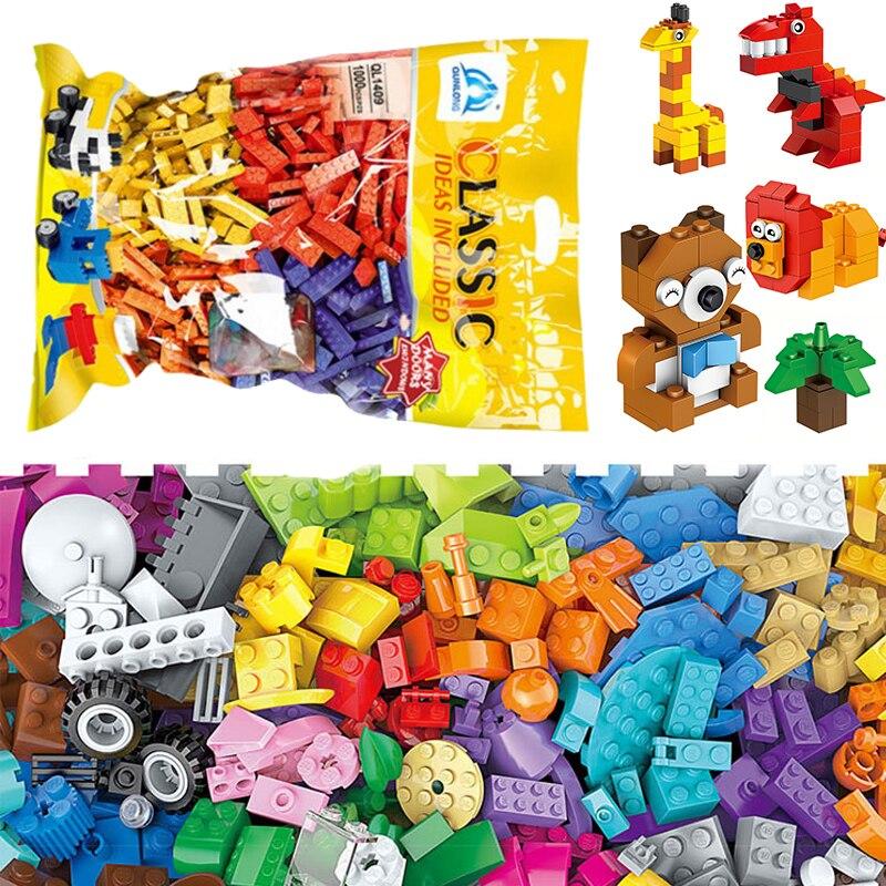 Classic 1000+ Pcs Pieces Bricks Block Building Model DIY Toys City Girls Boys Without Box Basic Creative Ideas Moc Set Friends