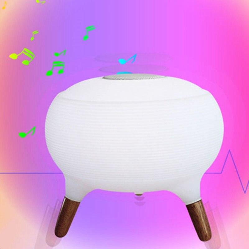 Bluetooth колонки красочный пульт дистанционного управления небольшой Настольный светильник светодиодный ночник зарядка умный дом модная лампа - 2