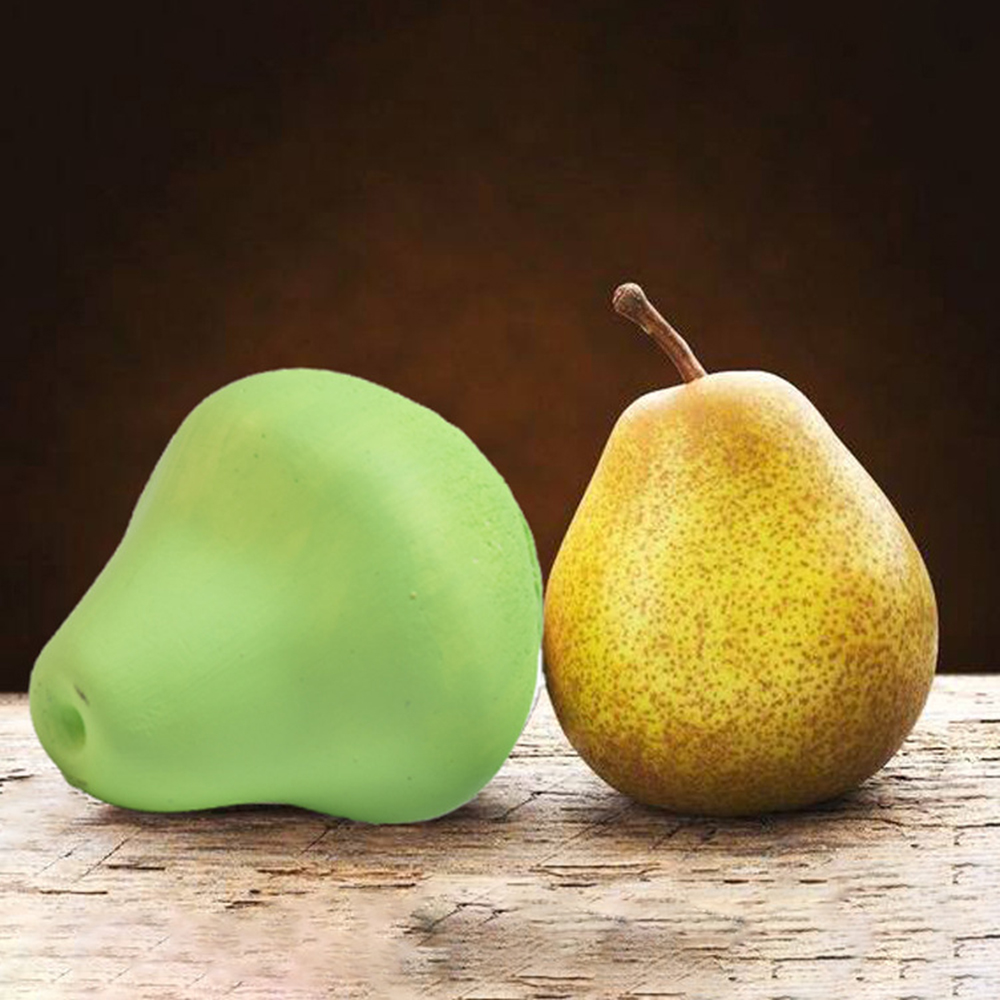 7*6.5CM 3D DIY Fruit Pear Shape Silicone Mould Aromatherapy Gypsum Mold Cupcake Props Fondant Candy Soap Candle Mould