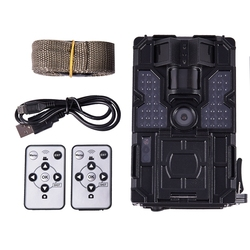 20MP 30ftp HD 1080P Trail Camera Waterproof 48pcs LEDs IR Night Vision Hunting Camera 2inch Monitor Wildlife Camera for Home Sec