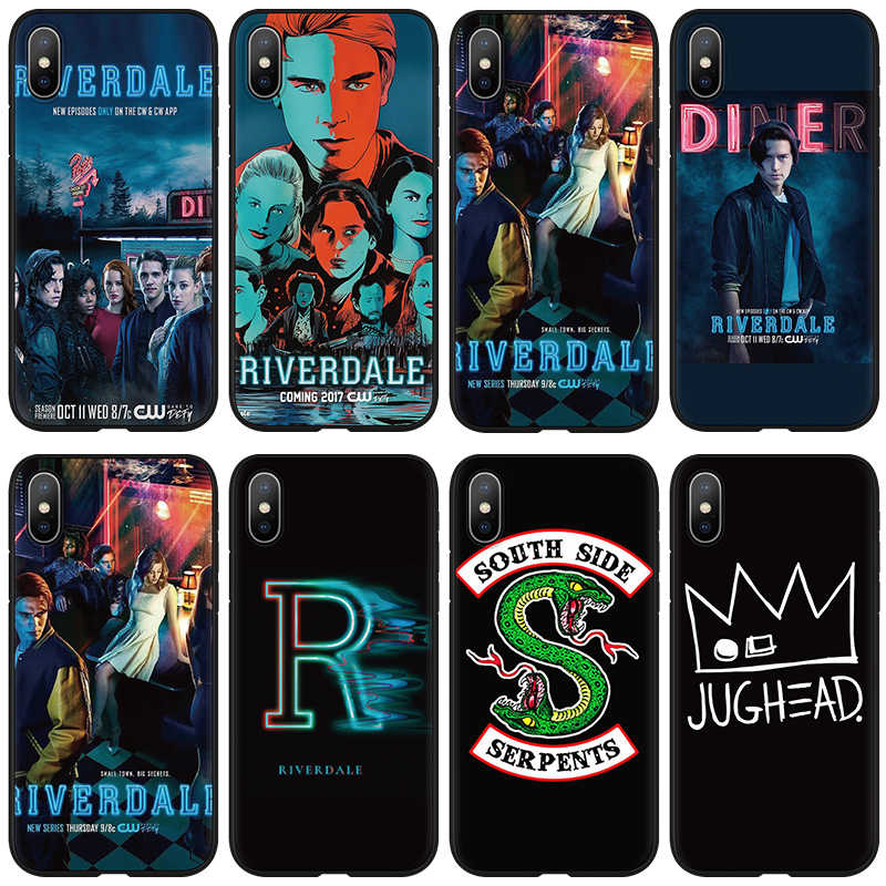 American TV Riverdale Southside Serpent Soft Case for iphone 7 8 6 6s Plus Cover FOR iphone 10 XR X 11 Pro XS Max 5 5S SE Case