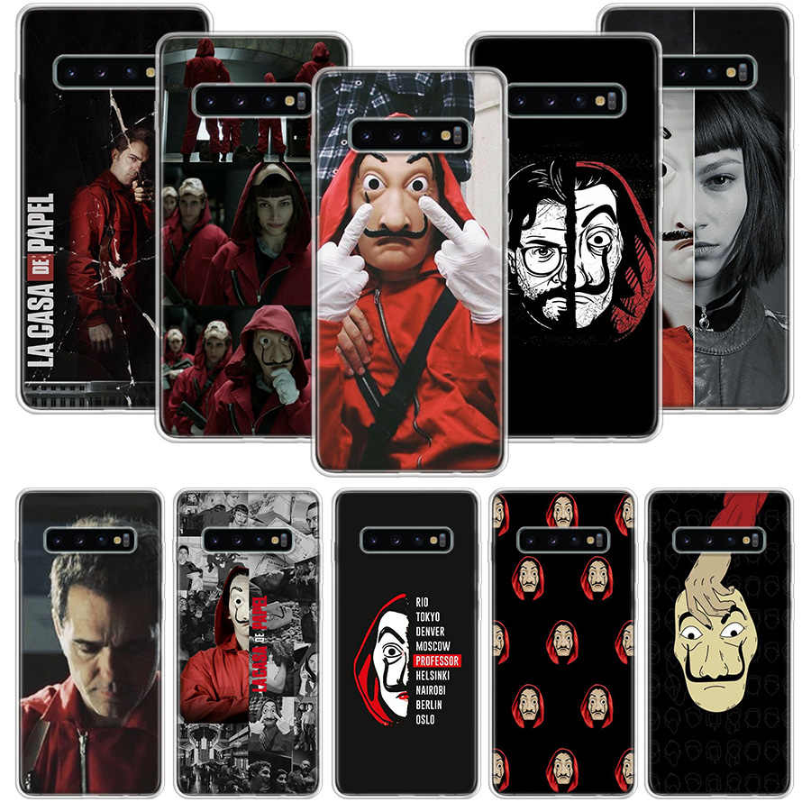 La Casa De Papel Case untuk Samsung Galaxy S20 Ultra Catatan 10 9 8 S10E S9 S8 J4 J6 J8 plus + Pro S7 S6 Soft Phone Coque