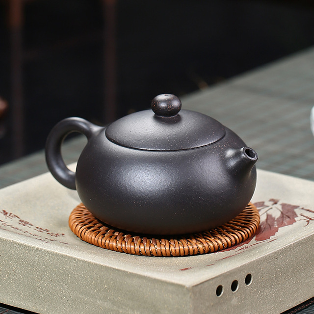 200ML Yixing קומקום זישה Xishi קומקום בעבודת יד עם אריזת מתנה חליפת Tieguanyin Puer תה שחור