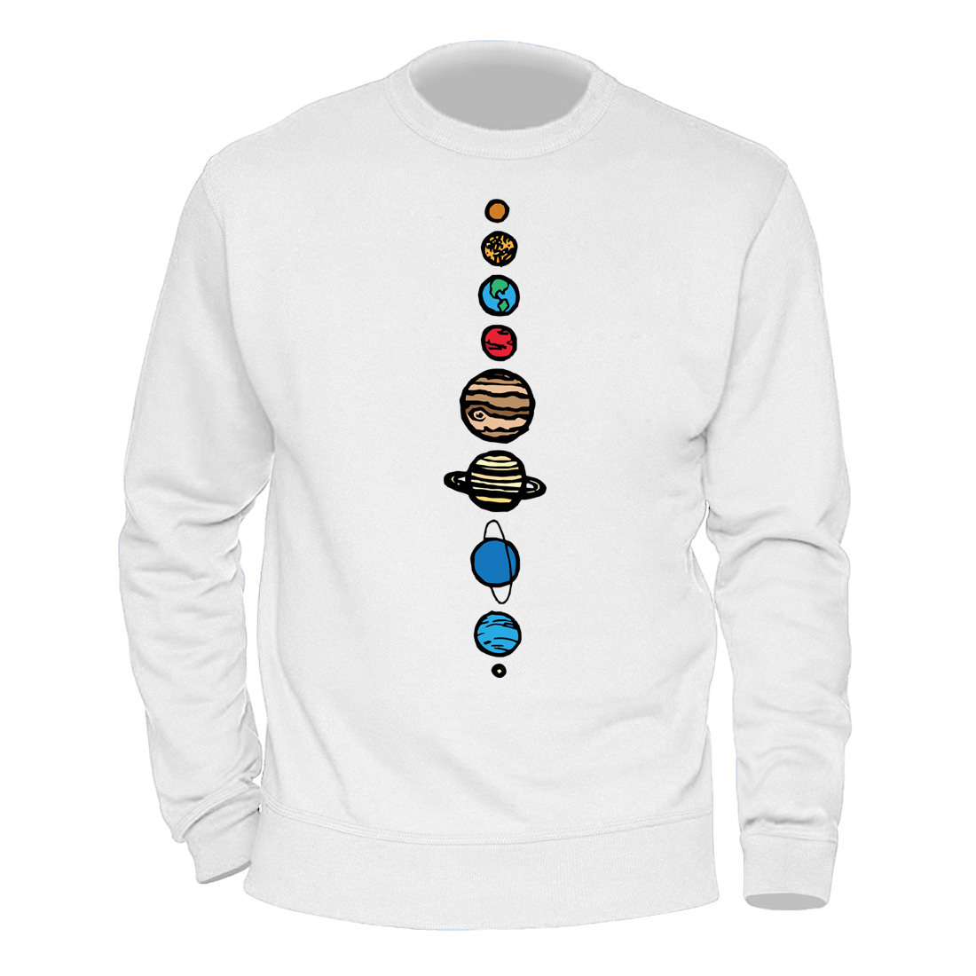 Male Clothing Solar System Planets Colour Hoody 2020 Keep Warm Winter Spring Sweatshirts Mens Casual Streetwear Harajuku Hoodies 2