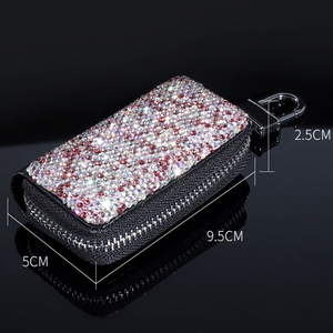 Image 4 - 1 Pcs Men & Women Car Key Bag Wallet Crystal Key Case Fashion Housekeeper Holders Luxury for BMW LADA Accessories