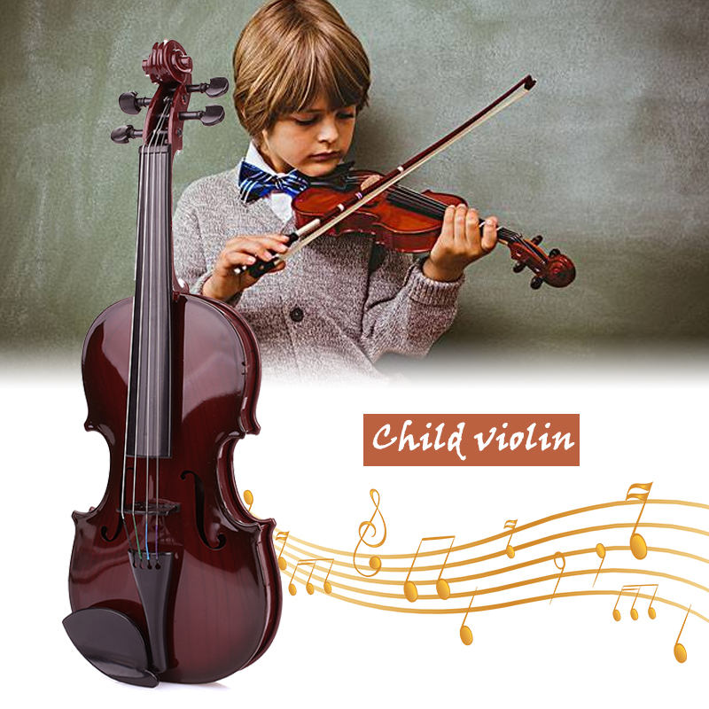 Studnets Acoustic Violin Durable Practical ABS Black 39CM Early Education Decoration Children Toys Student Children'S Violin