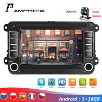 "AMPrime Android 7 ""2Din GPS coche MP5 Multimedia reproductor de Video de Radio de coche Auto Radio estéreo de Audio para VW/Skoda/Passat/Golf/Poloc"