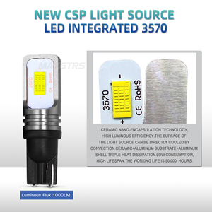 Image 4 - 2x T10 CANBUS hiçbir hata W5W 168 194 3570 çip LED 72W otomatik gösterge yedek ışık kama park ampuller lambalar araba ışık kaynağı