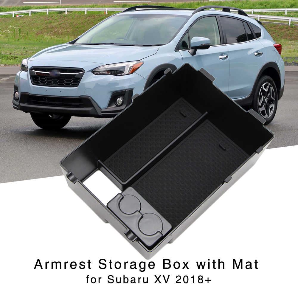 Furong Car Styling Fit for Subaru XV 2018 2019 Car Center Console bracciolo Storage Box coperture Interne Accessori della Decorazione
