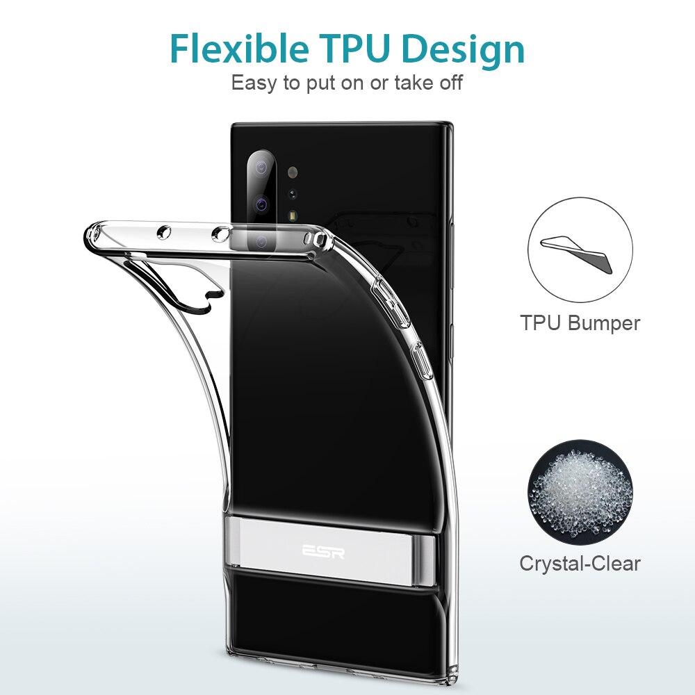 Image 5 - ESR funda transparente para teléfono de negocios para Samsung Galaxy Note 10 Plus + 5G soporte de Metal Kickstand a prueba de golpes TPU cubierta para S20 PlusFundas ajustadas   -