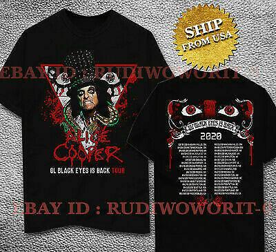 Alice Cooper Shirt Ol Black Eyes Is Back T Shirt Size S 2Xl