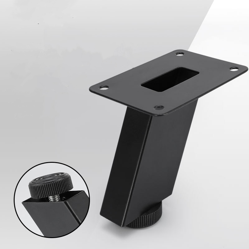 Adjustable Height Furniture Legs Cabinet Table Legs Black Metal Oblique Pin For Tv Cabinet Sofa Foot Level Hardware