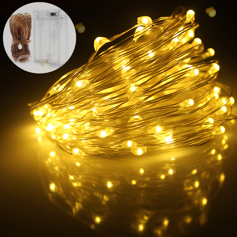 10-100 LED 1M-10M Battery Operated String Lights Fairy Wedding Festival Bu