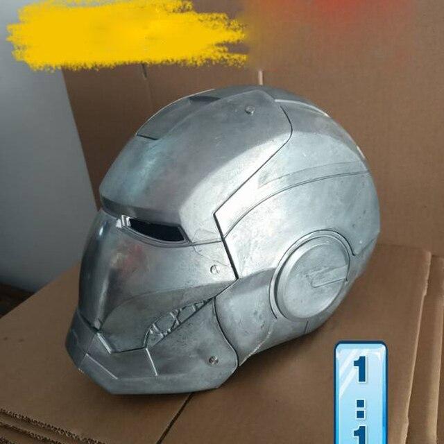 MKII 1: 1 Алюминиевый шлем первичного цвета, неполированный и самодельная роспись, Все металлы имеют светлый свет