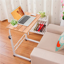 80*40cm Large size Desktop computer Table Adjustable Portable Laptop Desk Rotate Laptop Bed Table Can be Lifted Standing Desk(China)