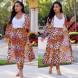 Image 2 - S 4XL New African Elastic Bazin Baggy Pants Rock Style Dashiki Long Sleeve Famous Suit For Lady/women Coat And Leggings 2pcs/se