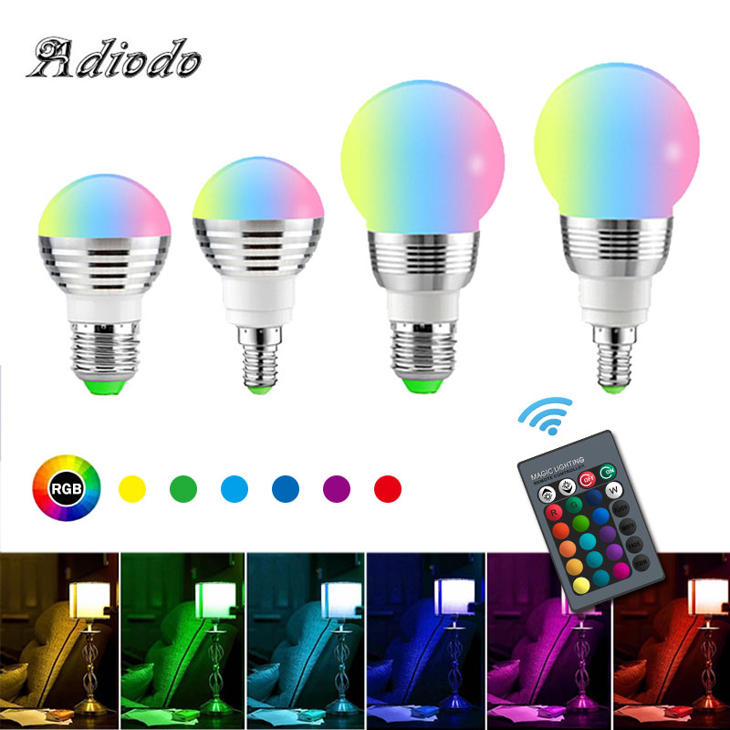 10W 15W Led 16 Color Changing RGB Color Bulb Light Packet  E14 E27 Lamp Home Spotlight Decoration With Remote Controller