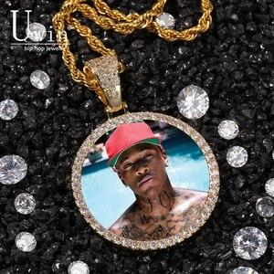 Uwin подвески под заказ с фотографиями очаровательные фотографии ожерелье круглые и крылые мужские хип-хоп ювелирные изделия для подарка тен...
