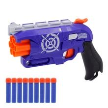 Новое поступление ручной 6-рюмку револьвер мягкой пулей пистолет костюм для Nerf пули игрушечный пистолет Дротика Blaster игрушки для детей