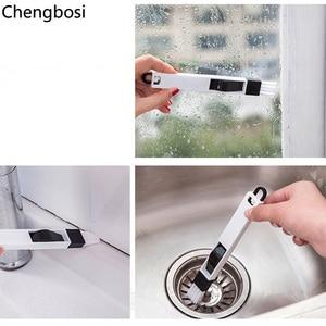 Image 5 - 2 в 1 многофункциональная щетка для чистки окон домашняя клавиатура домашняя кухонная складная щетка инструмент для чистки компьютера
