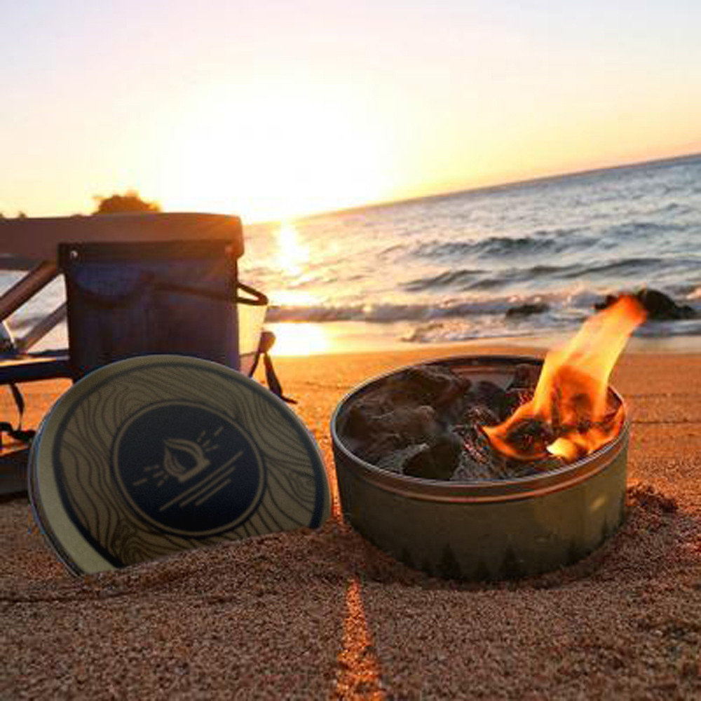 Stove Portable And Reusable Magic Bonfire Small Tin Can Fireworks Magic Outdoor Camping Hiking Tools плита #YL10