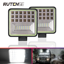126W 42LED Work Lights  bar Square Flash Spotlight 12V 24V Car Auto Truck Off Road Offroad Accessories motorcycle Excavator  Atv