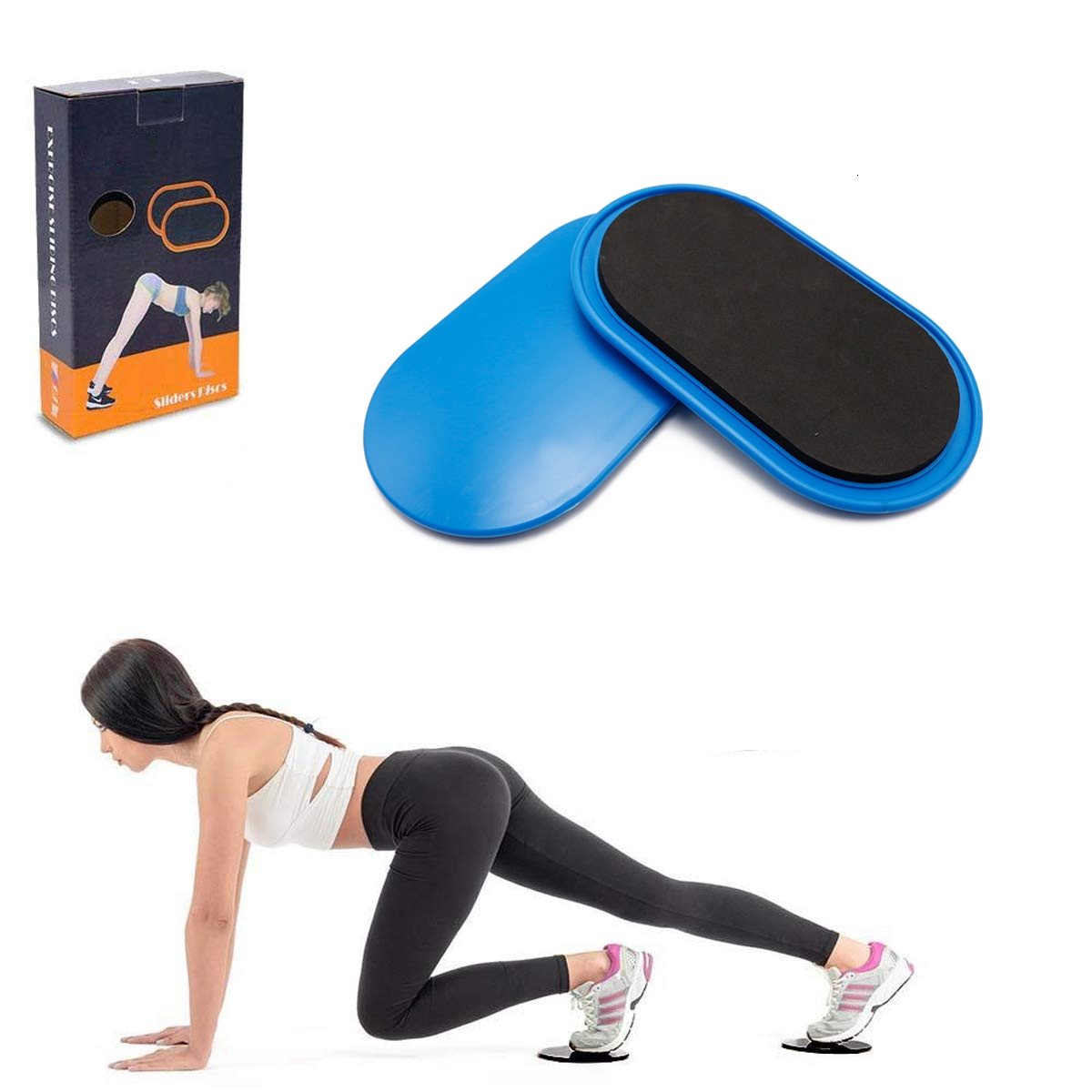 2PCS/Set Gliding Discs Slider Fitness Disc Exercise Sliding Abdomen Training Plate For Yoga Abs Butts Legs Workout Accessories image