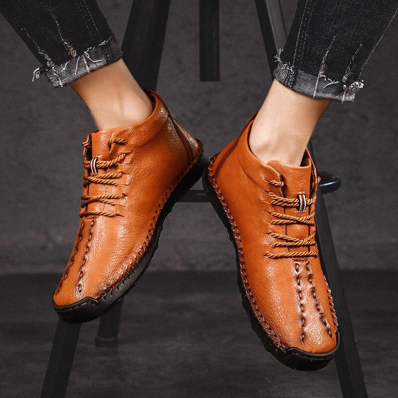 Zapatos de cuero para hombre 2019 nuevos zapatos casuales de negocios de estilo para hombre de moda al aire libre transpirable estilo británico los zapatos de los hombres Retro