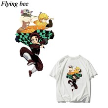 Flyingbee DIY Transfer Panas Patch Pakaian Stiker T-shirt Gaun Dekorasi Panas Tekan Appliques X0831(China)