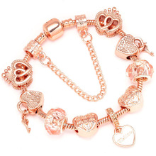 Boosbiy Luxury Brand Women Bracelet Unique Rose Gold Crystal Charm Bra