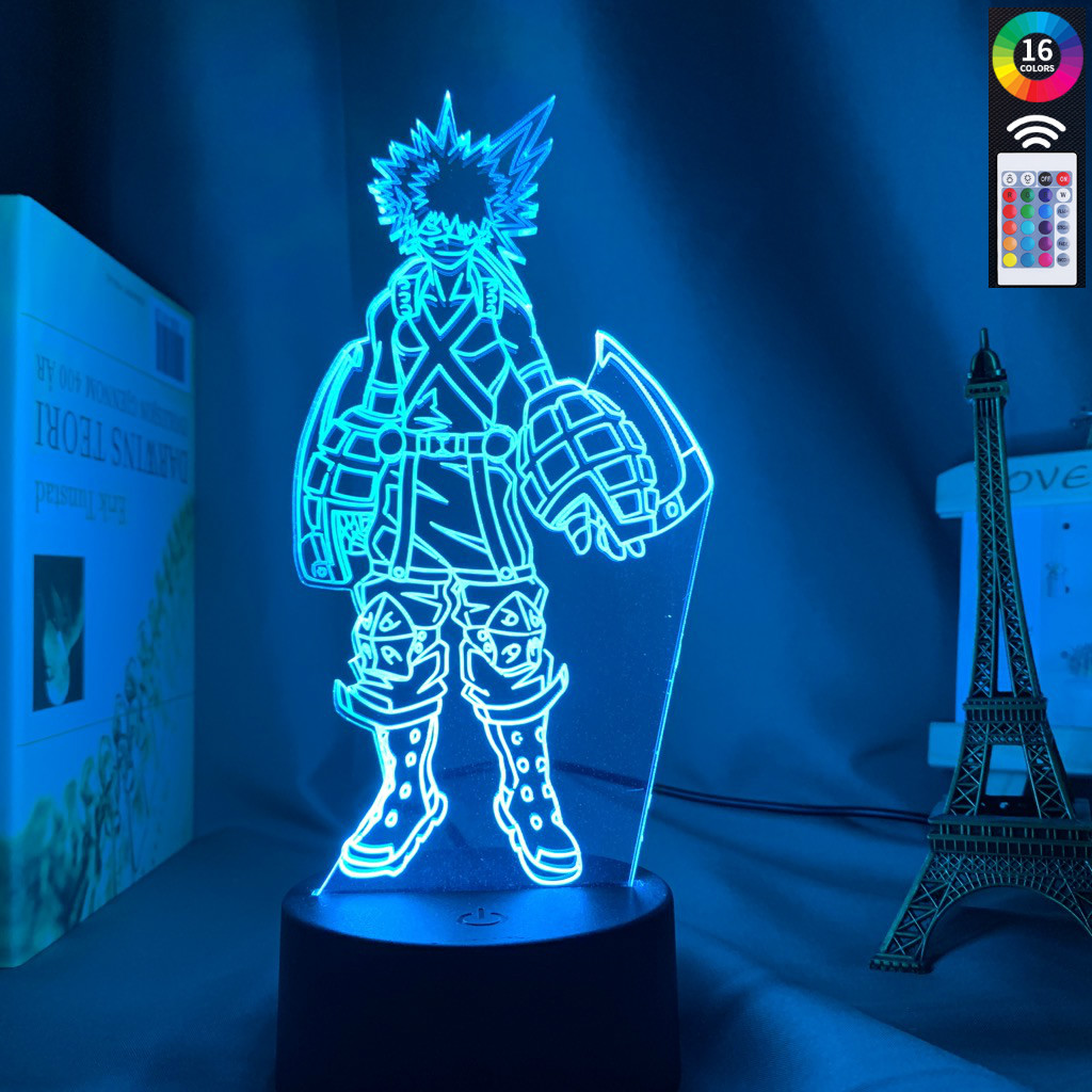 3D Lamp Katsuki Bakugo Figure Kids Bedroom Nightlight Led Touch Sensor Room Lighting Anime My Hero Academia Gift Led Night Light