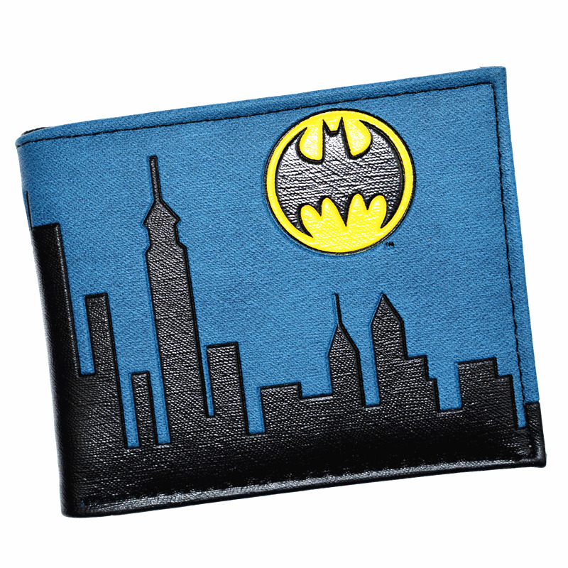 FVIP Cool Design Batman Wallet DC Justice League Purse High Quality Men's Wallets With Coin Pocket