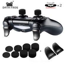 DATA FROG 2 unids/set L2 R2 botones extensión para gatillo para PS4 controlador para PS4 Botón de extensión para PS4 Gamepad accesorios de juego