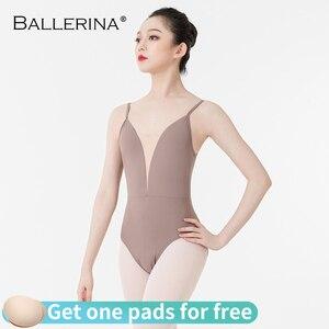 Image 2 - Leotardo para práctica de bailarina de ballet, para traje de baile femenino, para niñas, eslinga, gimnasia, para adultos, correa ajustable para el hombro, 5085