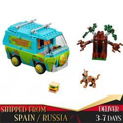 Scooby doo filme série mistério ônibus máquina blocos de construção diy brinquedos tijolos compatível com figura fred presentes modelo para crianças