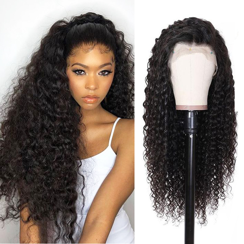 Peruvian Deep Wave Lace Front Wig Pre Plucked 100% Human Hair Wigs For Black Women 13x4 13x6 Curly Wig With Baby Hair Reshine