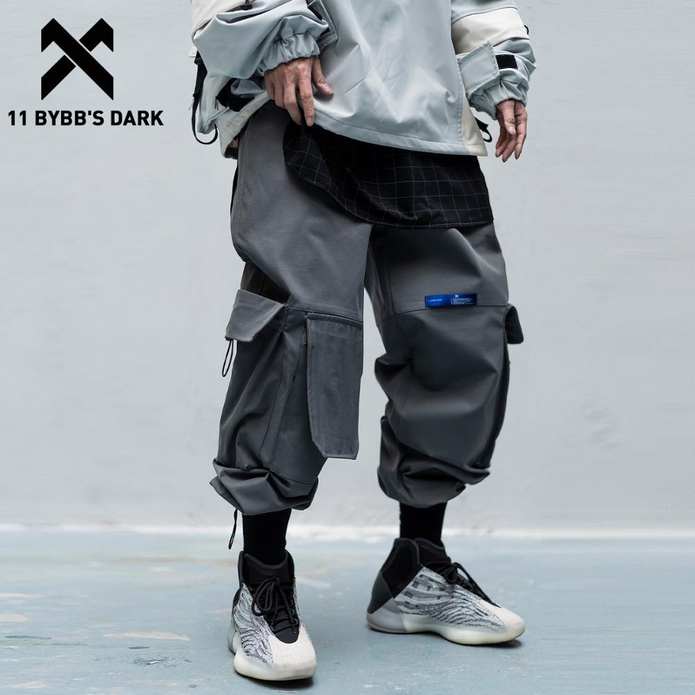 11 BYBB'S DARK Multi-pocket Cargo Pants Men Joggers 2020SS Elastic Waist Hip Hop Streetwear Harem Pants Men Sweatpants Techwear