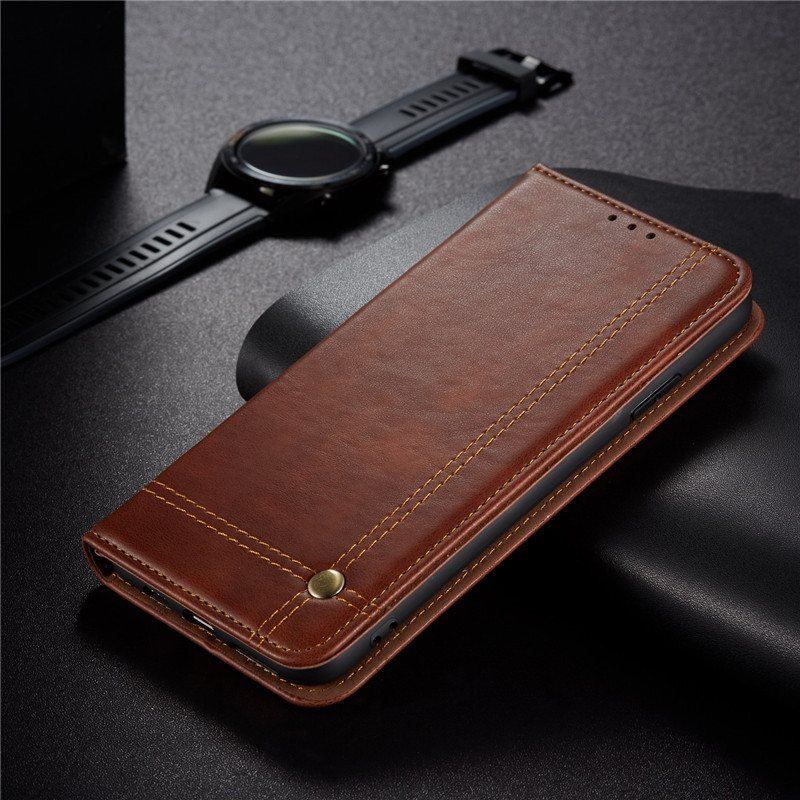 Luxury PU Leather Auto Closing Magnetic Flip Case For Samsung Galaxy S20 Ultra S20 S10 Lite S10 Plus S9 S8 Plus <font><b>S105G</b></font> Soft Cover image