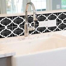 Наклейка на стену для кухонной плитки backsplash черная водостойкая