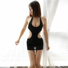 Сексуальное мини-платье с открытой спиной, шелковое гладкое прозрачное платье с глубоким вырезом, открытая сексуальная ночная рубашка, эротическая одежда