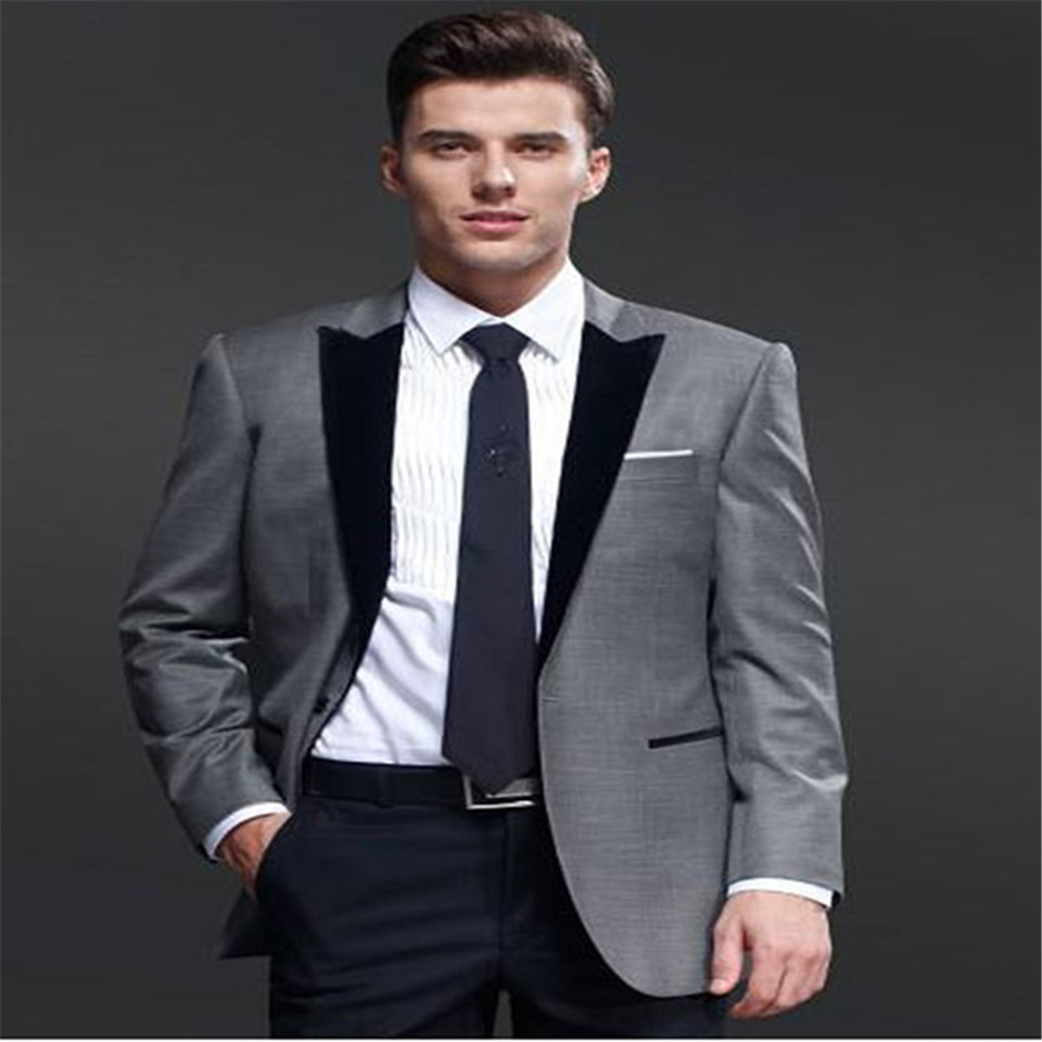 New Men's Suit Smolking Noivo Terno Slim Fit Easculino Evening Suits For Men Tuxedos Groomsmen Wedding Party Dinner Best Man Bla