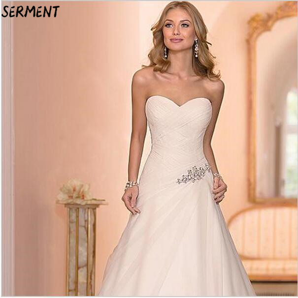 SERMENT Simple Lace Sleeve Wedding Dress Off The Shoulder Suitable For Pregnant Women Floor-Length Spring Summer Autumn Wedding