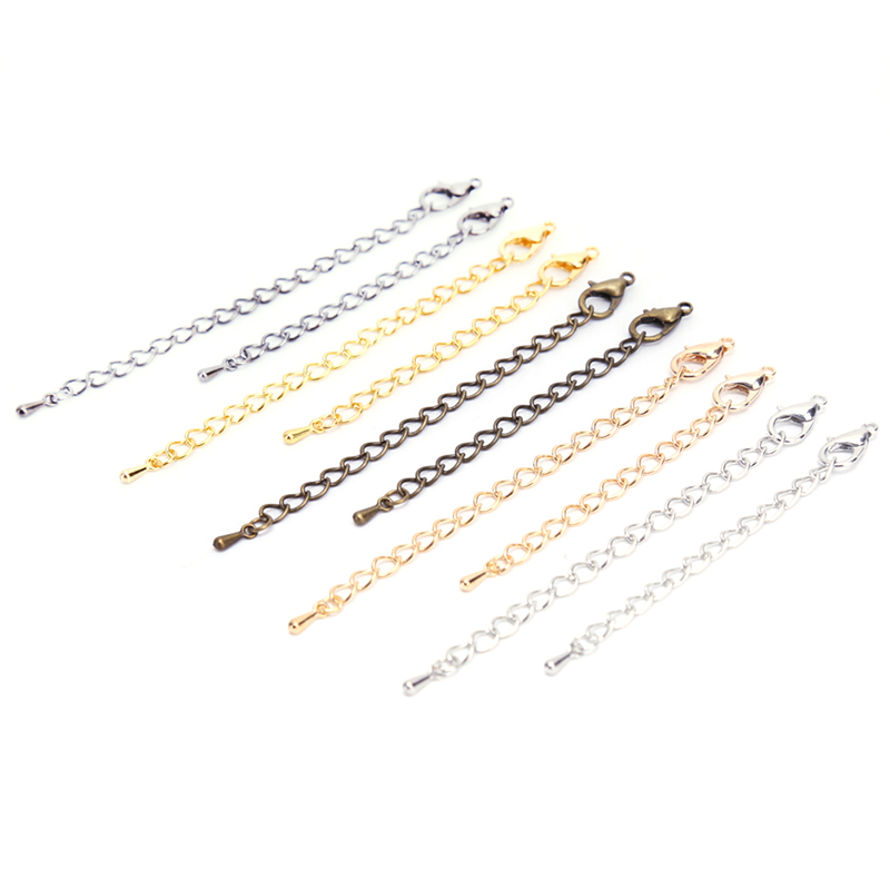 20Pcs/Lot Jewelry Lobster Clasp Extension Chains for DIY Necklace Jewelry Making