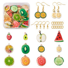 Эмалевые подвески из эмали в виде фруктов, яблока, банана, пинаппа, подвески для ожерелья, браслета, висячие серьги, «сделай сам», аксессуары ...