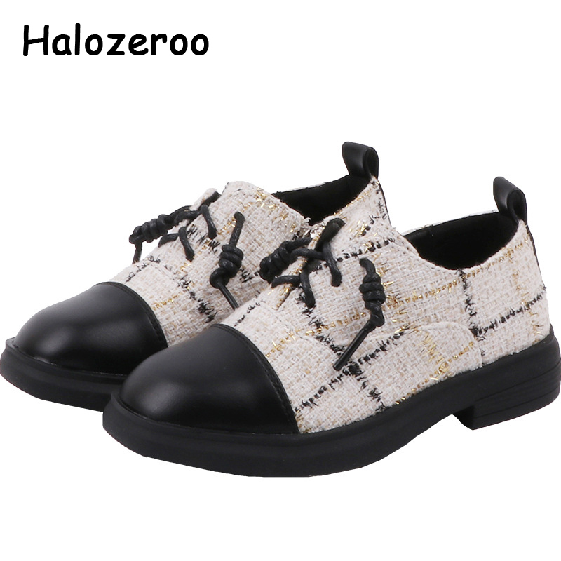 Spring Kids Leather Shoes Children Soft Fashion Flats Baby Girls Black Slip On Shoes Boys Brand Oxford School Platform New 2020