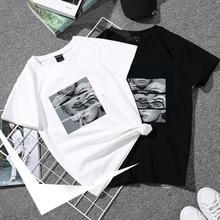 Basic Women T-shirt Summer Short Sleeve Female TShirt Tops Harajuku Lad