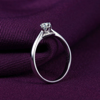 1 Carat 18k Gold And White Gold Diamond Ring Authentic Platinum Rose Gold Gold Wedding Marriage Couple 2